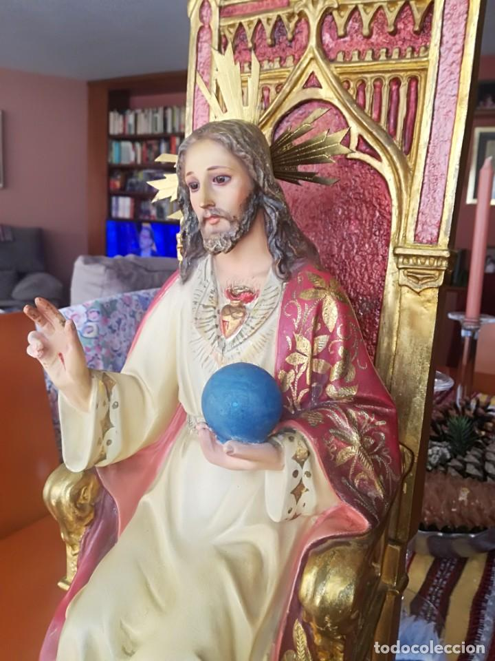Arte: Sagrado corazón entronizado Arte Sacro Olot taller Santa María del Claret. - Foto 2 - 194866761