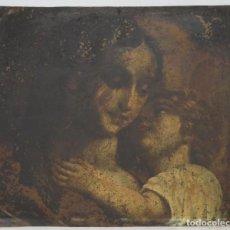 Arte: BONITA VIRGEN CON EL NIÑO. OLEO S/ COBRE. SIGLO XVII. Lote 194895975