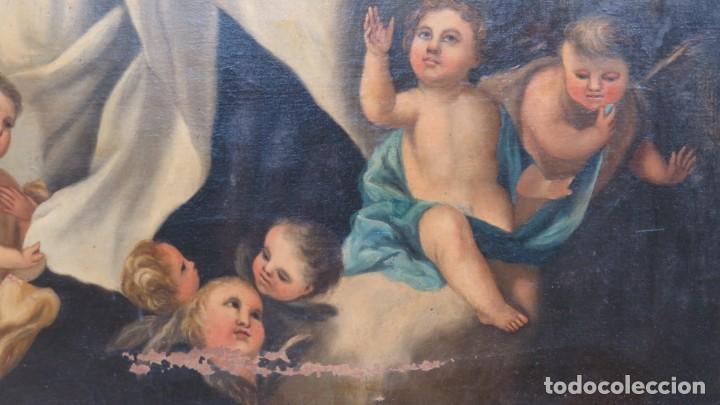 Arte: VIRGEN DEL CARMEN. OLEO S/ LIENZO. SIGLO XVIII-XIX - Foto 3 - 194896381