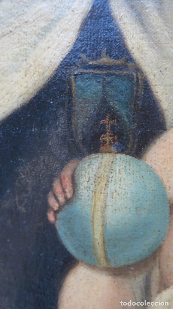 Arte: VIRGEN DEL CARMEN. OLEO S/ LIENZO. SIGLO XVIII-XIX - Foto 8 - 194896381