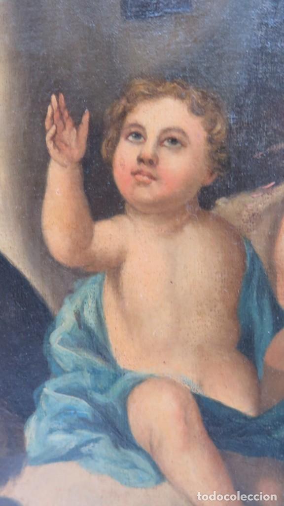 Arte: VIRGEN DEL CARMEN. OLEO S/ LIENZO. SIGLO XVIII-XIX - Foto 16 - 194896381