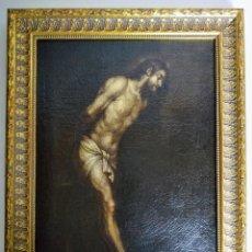 Arte: CIRCULO DE BARTOLOMÉ CARDUCHO, SIGLO XVII, CRISTO DE LA FLAGELACIÓN.. Lote 194917496