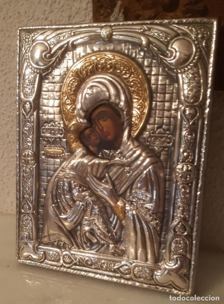 CUADRO ANTIGUO CON IMAGEN RELIGIOSA DE 22 CMS. DE ALTO X 18 DE ANCHO (Arte - Arte Religioso - Litografías)