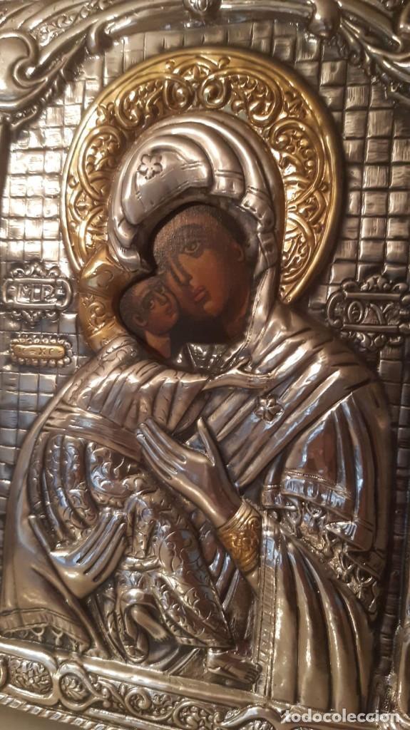 Arte: CUADRO ANTIGUO CON IMAGEN RELIGIOSA DE 22 CMS. DE ALTO X 18 DE ANCHO - Foto 3 - 194928782