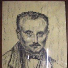 Arte: XAVIER POUSA, RETRATO DE X. COSTA CLAVELL.. Lote 194931783
