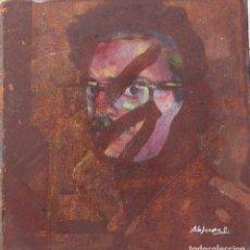 Arte: ALEJANDRO COSTA, AUTORRETRATO, OLEO SOBRE AGLOMERADO . Lote 194935606