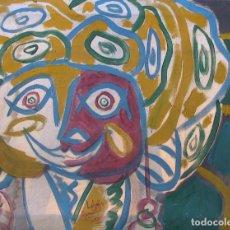Arte: LABAJJO ALFREDO, PERONAJE TIPICO, ACRILICO SOBRE TELA. Lote 194937870