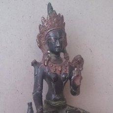 Arte: ESCULTURA INDIA DE BRONCE ANTIGUA. 1650 GMS . Lote 194943420