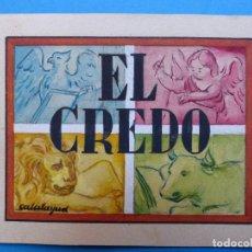 Arte: TEMA RELIGIOSO EL CREDO - PRECIOSO ORIGINAL PINTADO A MANO - AÑOS 1950-60 - ILUSTRADO POR CALATAYUD. Lote 194946883