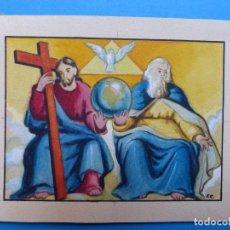 Arte: TEMA RELIGIOSO - PRECIOSO ORIGINAL PINTADO A MANO - AÑOS 1950-60 - ILUSTRADO POR CALATAYUD. Lote 194946916
