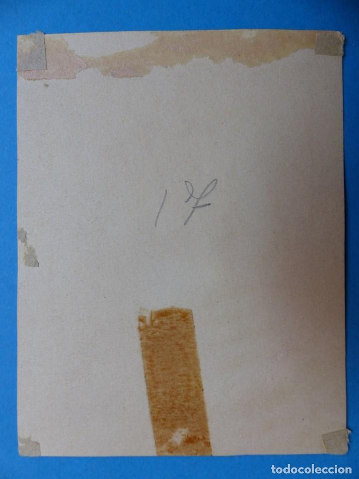 Arte: TEMA RELIGIOSO - PRECIOSO ORIGINAL PINTADO A MANO - AÑOS 1950-60 - ILUSTRADO POR CALATAYUD - Foto 3 - 194946940