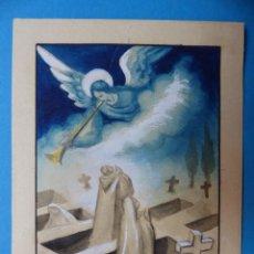 Arte: TEMA RELIGIOSO - PRECIOSO ORIGINAL PINTADO A MANO - AÑOS 1950-60 - ILUSTRADO POR CALATAYUD. Lote 194946957
