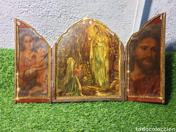 ICONO TRIPTICO ANTIGUO (Arte - Arte Religioso - Iconos)