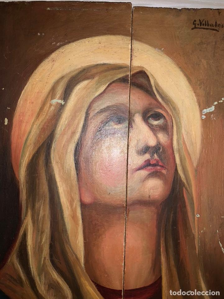Arte: VIRGEN. Óleo sobre tabla. 35x26 cm - Foto 2 - 195030755