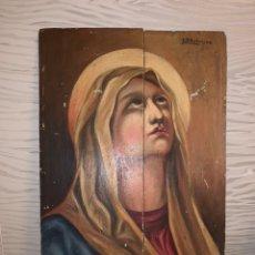 Arte: VIRGEN. ÓLEO SOBRE TABLA. 35X26 CM. Lote 195030755