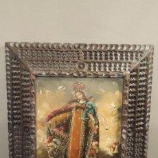Arte: ANTIGUA VIRGEN NIÑO - ESTILO ARTE CUZQUEÑO ESCUELA CUZQUEÑA. Lote 195063521