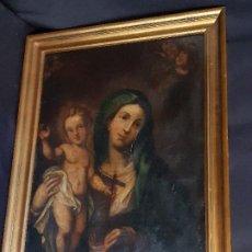 Arte: VIRGEN CON EL NIÑO. ÓLEO SOBRE LIENZO. ESCUELA ESPAÑOLA. SIGLO XVIII. . Lote 195080243