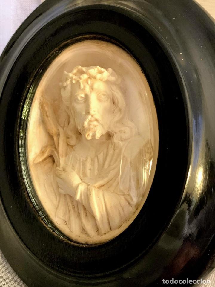TALLA RELIGIOSA EN SEPIOLITA O ESPUMA DE MAR. ECCE HOMO.FINALES DEL SIGLO XIX (Arte - Arte Religioso - Escultura)
