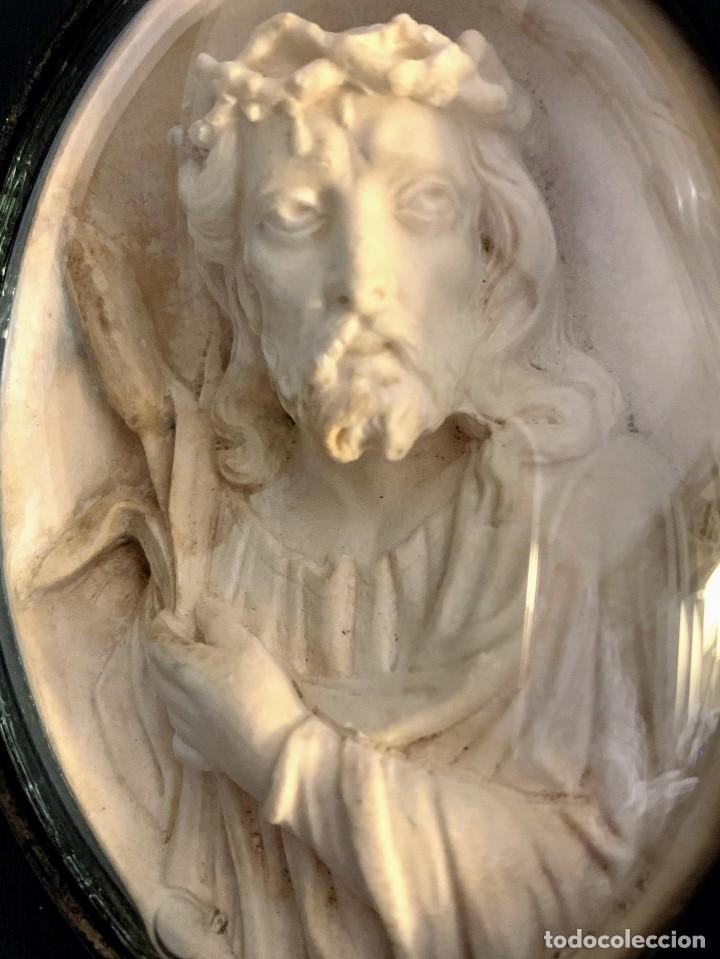 Arte: Talla religiosa en sepiolita o espuma de mar. Ecce Homo.Finales del Siglo XIX - Foto 3 - 195081122