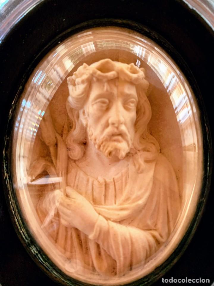 Arte: Talla religiosa en sepiolita o espuma de mar. Ecce Homo.Finales del Siglo XIX - Foto 5 - 195081122