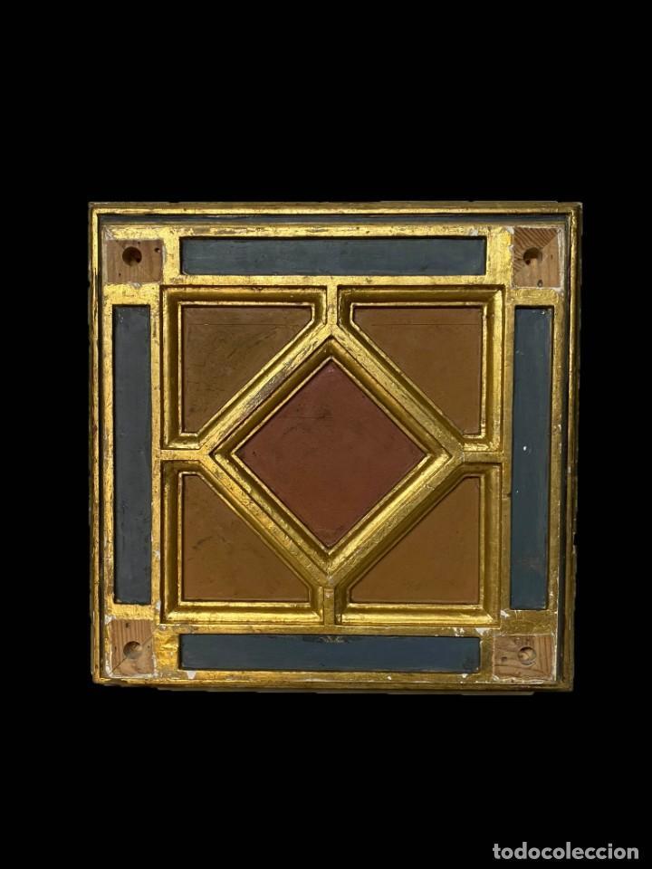 Arte: Maravillosa peana- cúpula-ménsula dorada al oro fino con preciosa base , todo original, siglo XIX - Foto 4 - 195097186