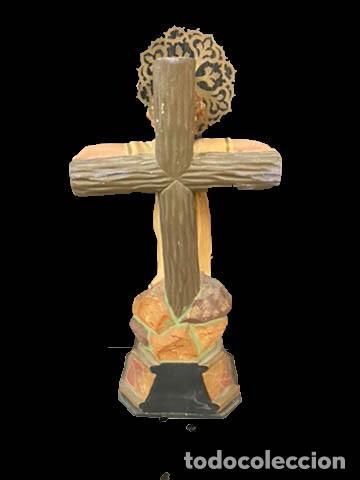 Arte: Maravilloso Niño Jesus de la Pasión, tipo olot, ojos de cristal, impecable. - Foto 2 - 195097587