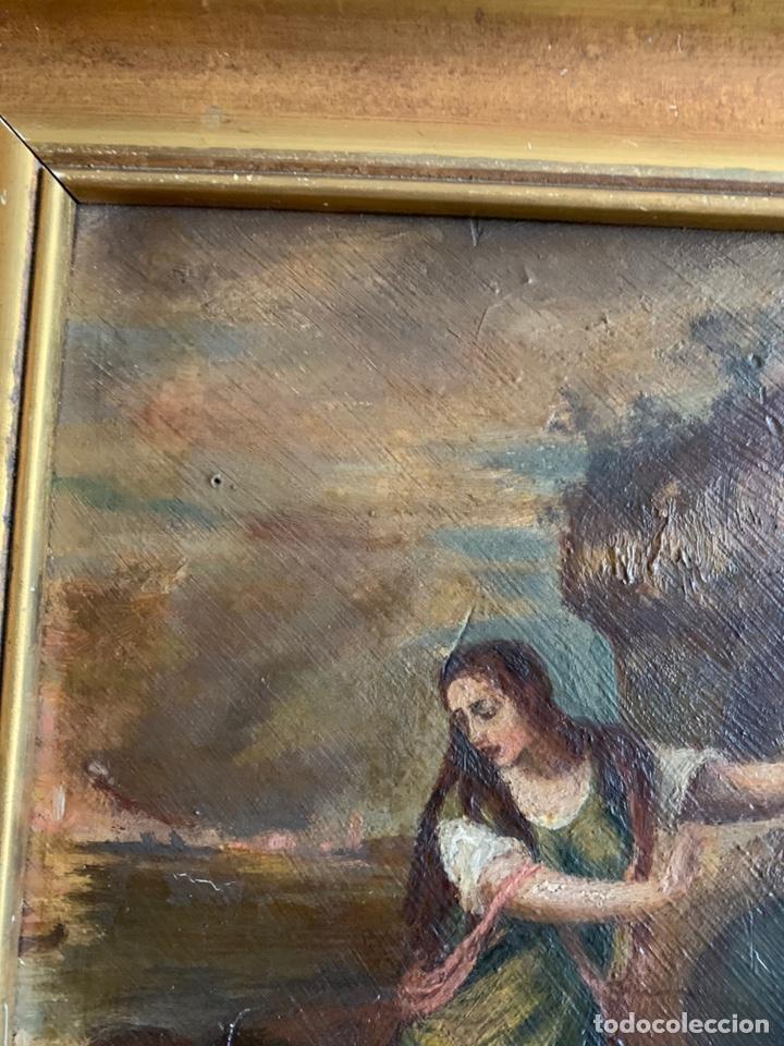 Arte: Santa Margarita ( TIZIANO) Óleo sobre Tabla. 31x24cm - Foto 5 - 195100983