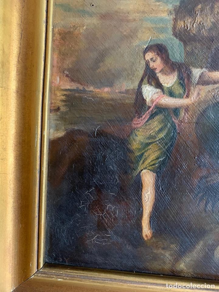Arte: Santa Margarita ( TIZIANO) Óleo sobre Tabla. 31x24cm - Foto 8 - 195100983