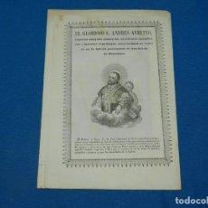 Arte: (M) GRABADO GOZO - EL GLORIOSO S ANDRES AVELINO, PARROQUIAL SAN JAIME DE BARCELONA, S.XIX. Lote 195104120