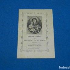 Arte: (M) GOIG GOZO EN ALABANSA PEL PURISSIM COR DE MARÍA, FINALES S.XIX, 15,5X10,5 CM, SEÑALES DE USO. Lote 195104345