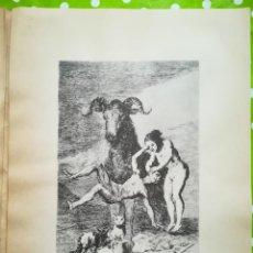 Arte: LÁMINA DE GOYA. Lote 195110691
