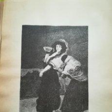 Arte: LÁMINA DE GOYA. Lote 195111347