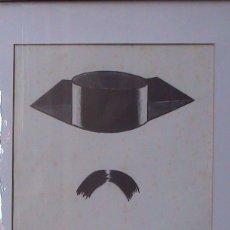 Arte: XAVIR CUGAT, TRICORNEO Y BIGOTE, ROTULADOR SOBRE PAPEL. Lote 195124538