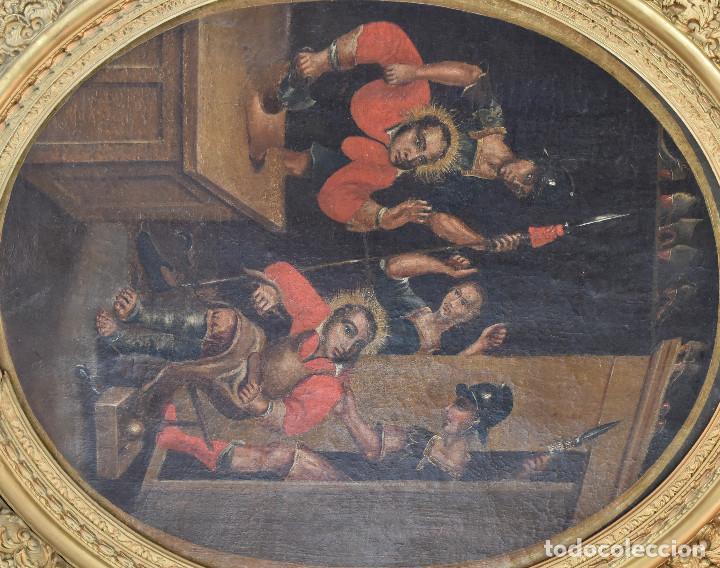 Arte: Ecole Sud Américaine XVIIème/XVIIIème siècle. L'arrestation de St. Crépin et St. Crépinien. - Foto 3 - 195125765