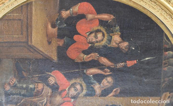 Arte: Ecole Sud Américaine XVIIème/XVIIIème siècle. L'arrestation de St. Crépin et St. Crépinien. - Foto 4 - 195125765