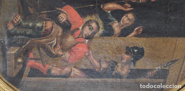 Arte: Ecole Sud Américaine XVIIème/XVIIIème siècle. L'arrestation de St. Crépin et St. Crépinien. - Foto 6 - 195125765