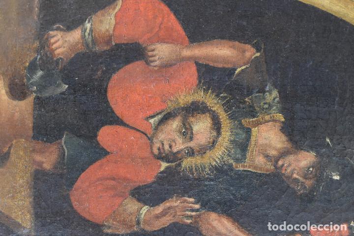 Arte: Ecole Sud Américaine XVIIème/XVIIIème siècle. L'arrestation de St. Crépin et St. Crépinien. - Foto 7 - 195125765