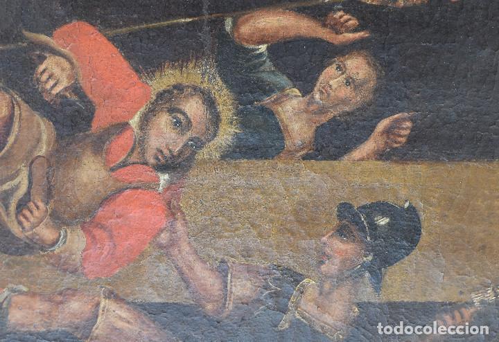 Arte: Ecole Sud Américaine XVIIème/XVIIIème siècle. L'arrestation de St. Crépin et St. Crépinien. - Foto 8 - 195125765