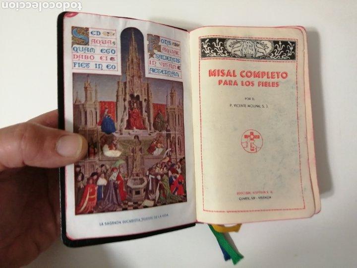MISAL COMPLETO DEL PADRE VICENTE MOLINA. AÑO 1958 (Arte - Arte Religioso - Grabados)