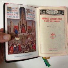 Arte: MISAL COMPLETO DEL PADRE VICENTE MOLINA. AÑO 1958. Lote 195127687