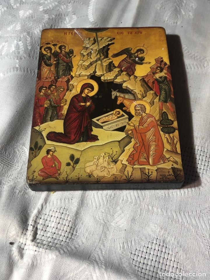IMAGEN ICONO RELIGIOSA MADERA LÁMINA ENLACADA (Arte - Arte Religioso - Iconos)