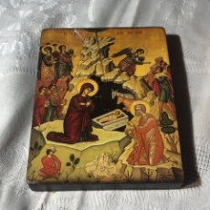 Arte: IMAGEN ICONO RELIGIOSA MADERA LÁMINA ENLACADA. Lote 195177738