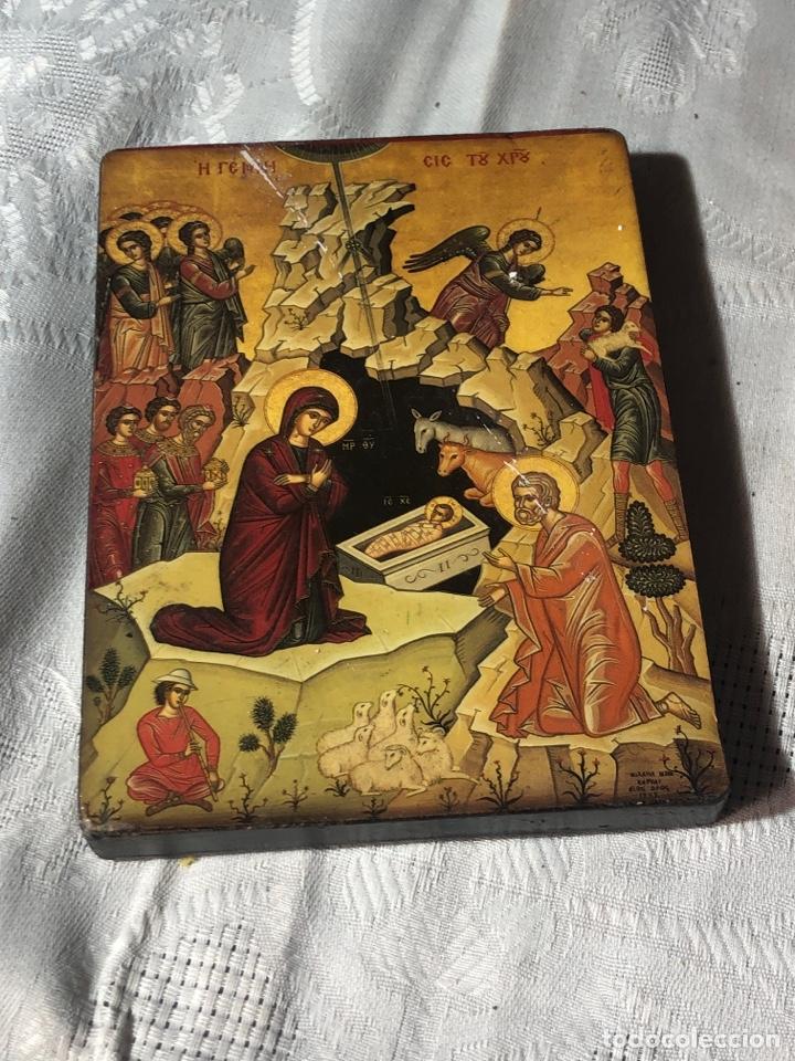 Arte: Imagen ICONO religiosa madera lámina enlacada - Foto 2 - 195177738