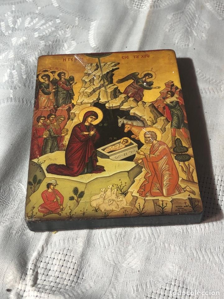Arte: Imagen ICONO religiosa madera lámina enlacada - Foto 3 - 195177738