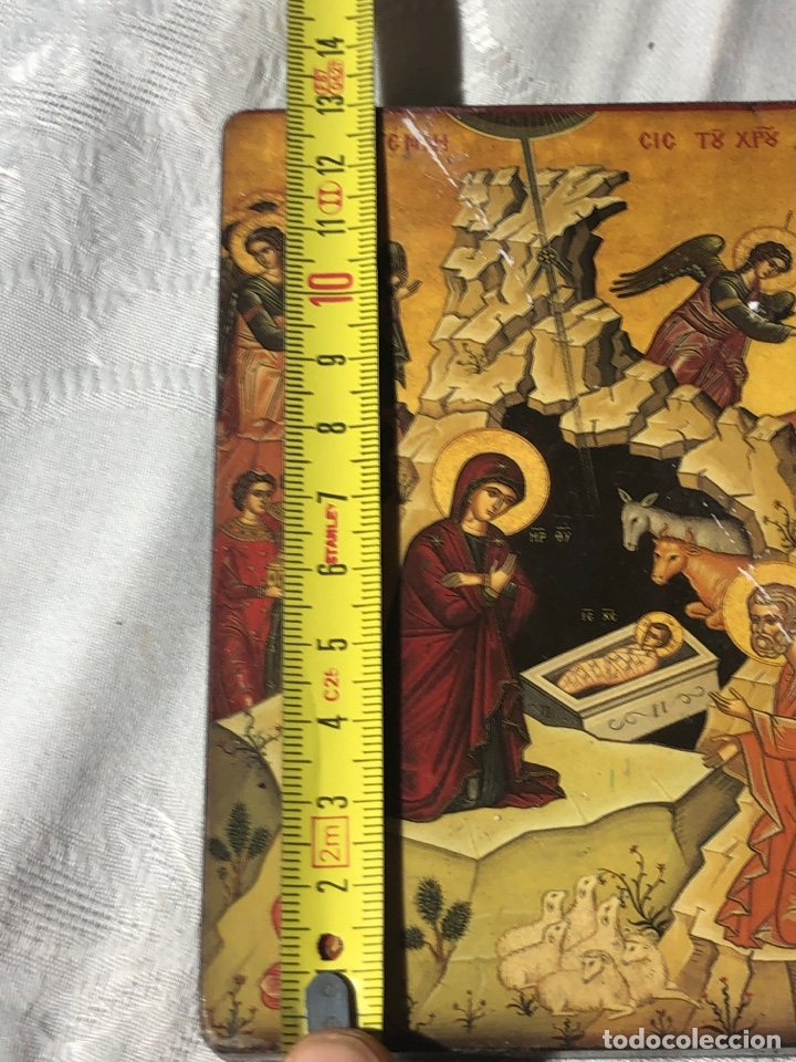 Arte: Imagen ICONO religiosa madera lámina enlacada - Foto 4 - 195177738