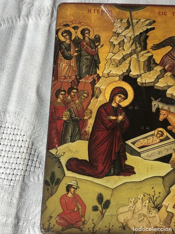 Arte: Imagen ICONO religiosa madera lámina enlacada - Foto 5 - 195177738