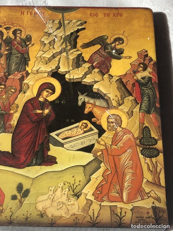 Arte: Imagen ICONO religiosa madera lámina enlacada - Foto 6 - 195177738