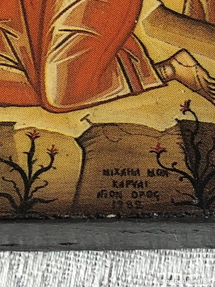 Arte: Imagen ICONO religiosa madera lámina enlacada - Foto 7 - 195177738