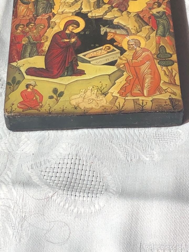 Arte: Imagen ICONO religiosa madera lámina enlacada - Foto 9 - 195177738