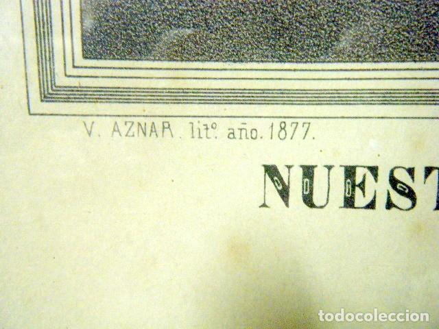 Arte: Nª Sª DE LOS DESAMPARADOS PATRONA DE VALENCIA Y SU REINO. V. AZNAR, 1877 - Foto 3 - 195185106